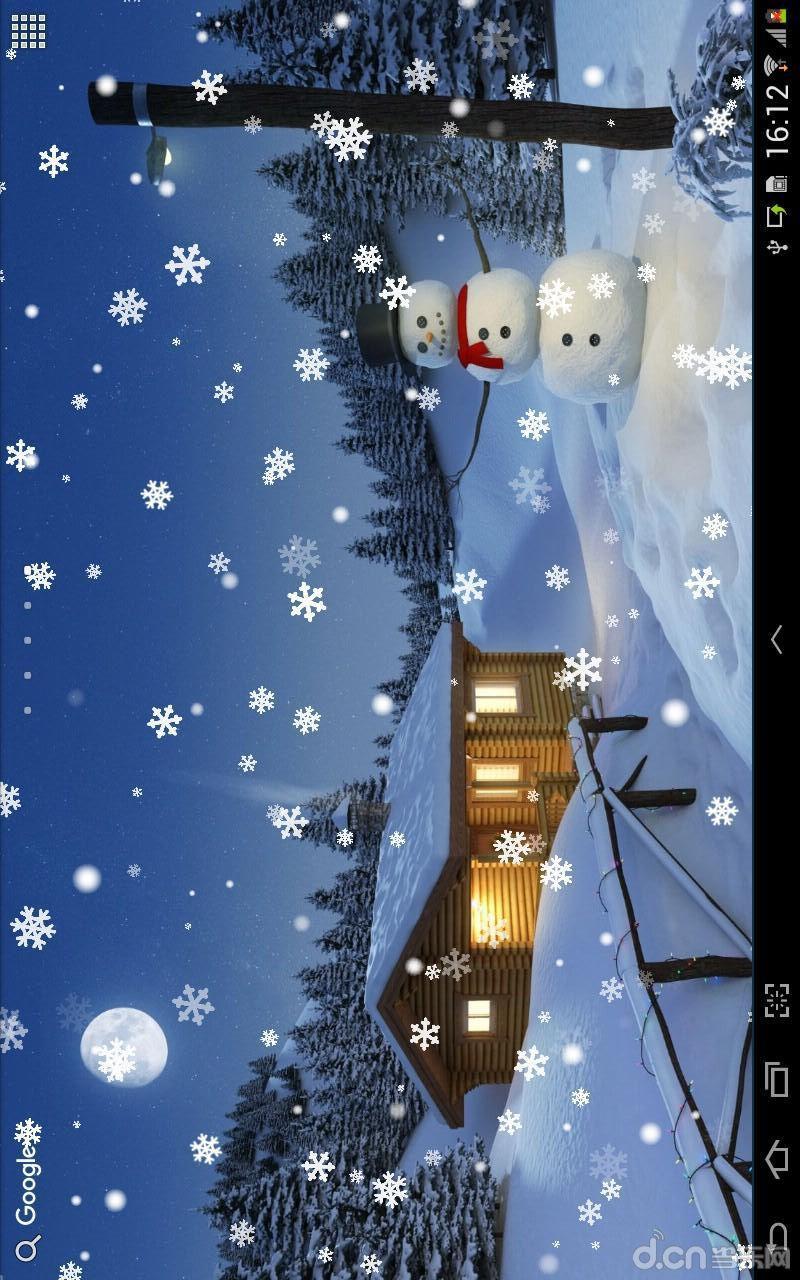 動漫下雪背景圖