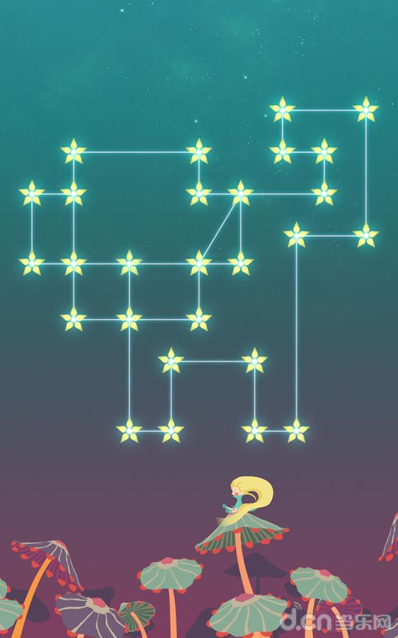 和住在在遥远的地方闪耀的行星edinu的monodi一起画出美丽的星座吧.